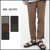 MR.OLIVE(ミスターオリーブ)<br>RETRO TWILL STA-PREEST TAPERED PANTS(レトロツイルスタプレテーパードパンツ)