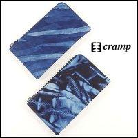 Cramp(クランプ)<br>藍染めL字ファスナーミドルウォレット