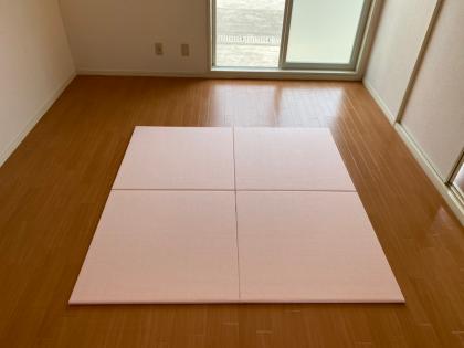 置くだけヘリ無し畳「和紙」桜
