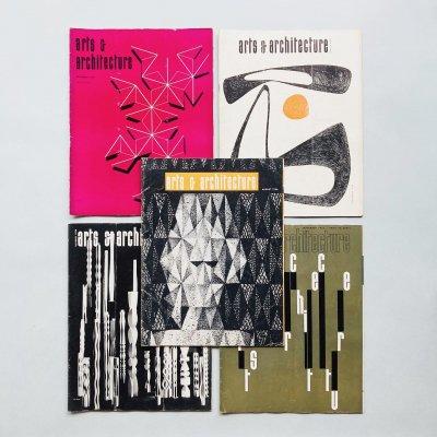 arts & architecture 1956年 5冊組<br>アーツ&アーキテクチュア