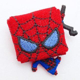 会員様限定50%OFF対象商品! マーベル スパイダーマン 刺繍ブローチ