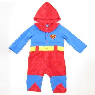 店内セール開催中!20%オフ対象商品 スーパーマン なりきり きぐるみカバーオール (コスチューム/ベビー服) 95cm (SUPERMAN) ベビー用品