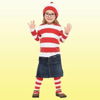 店内全品30%OFF ログインで ウォーリー コスチューム 子ども用 ウェンダ Sサイズ ウォーリーを探せ