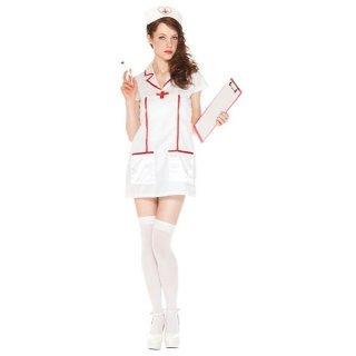 会員様限定50%OFF対象商品! ハロウィンコスプレ大人女性用ナース看護婦仮装