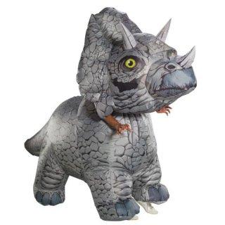 店内全品30%OFF ログインで 恐竜 コスチューム 大人用 トリケラトプス インフレイタブル