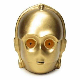 店内セール開催中!20%オフ対象商品 C-3PO 貯金箱 (フィギュアバンク) フェイス スターウォーズ 4942423233169