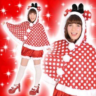 店内全品30%OFF ログインで ディズニーコスチューム大人女性用ミニーフードケープとパンツのセット仮装 4580370952797