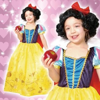 コスチュームセール開催中!30%オフ対象商品 ディズニーコスチューム子供女の子用Mサイズプリンセス白雪姫ウィッグ付仮装 4580370952490