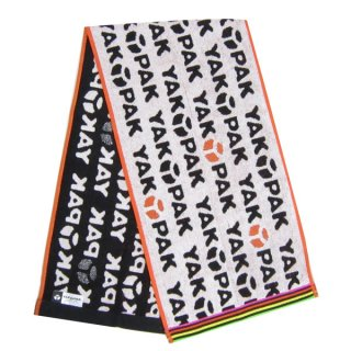 店内セール開催中!10%オフ対象商品YAKPAK ロングマフラータオル (ネックタオル/フェイスタオル) ホワイト ロゴチラシ  (ORYA)
