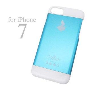 店内セール開催中!10%オフ対象商品 アリス iPhone7専用 アルミケース (アイフォンケース iPhone 7 対応) ブルー (ふしぎの国のアリス) ディズニー