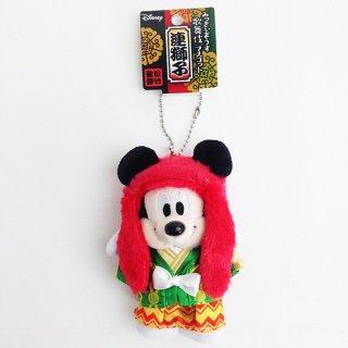 店内全品30%OFF ログインで ディズニー ミッキーマウス ボールチェーン マスコット 連獅子 赤 グッズ