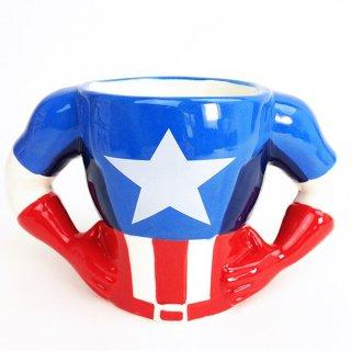 店内セール開催中!10%オフ対象商品 マーベル ボディマグ キャプテン・アメリカ アメコミ 面白グッズ グッズ