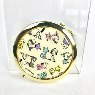 店内セール開催中!30%オフ対象商品 PEANUTS スヌーピー ファーロン&スヌーピー コンパクトミラー 鏡 イエロー