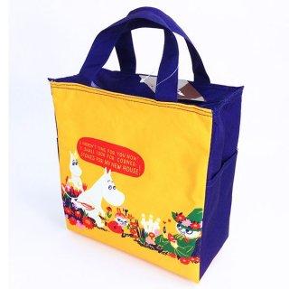 店内セール開催中!10%オフ対象商品 ムーミン スクエア 保冷バッグ お花畑 ランチバッグ グッズ