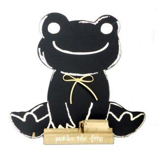 店内セール開催中!20%オフ対象商品 シュシュ ピクルス 黒板 ダイカット クラフトシリーズ (Pickles the frog)