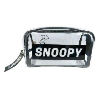 店内セール開催中!50%オフ対象商品SNOOPY スヌーピー BOXペンポーチ 透明 スケボー  (MCOR)