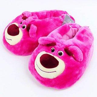 店内セール開催中!10%オフ対象商品ディズニー ロッツォ ぬいぐるみスリッパ ピンク グッズ トイ・ストーリー