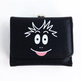 バーバーパパ モジャ  バーバモジャ 三つ折り財布 財布 バーバーパパ モジャ 黒 グッズ  (MCOR)