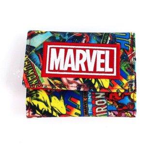 店内セール開催中!10%オフ対象商品MARVEL 三つ折り財布 コミックRD  MARVEL コンパクト財布 財布 MARVEL レッド グッズ(MCOR)