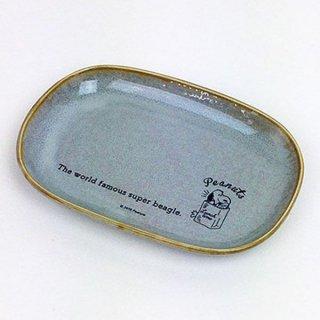 店内セール開催中!50%オフ対象商品スヌーピー オーバルプレート ランチタイム BL スヌーピー 皿 プレート ブラック  グッズ