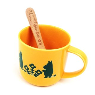 店内セール開催中!10%オフ対象商品ムーミン スプーン付きマグ ソッパ ムーミン マグカップ スプーン付きマグ コップ 黄色 グッズ