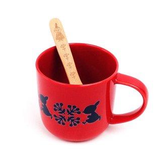 店内セール開催中!10%オフ対象商品ムーミン スプーン付きマグ ソッパ リトルミィ マグカップ スプーン付きマグ コップ 赤 グッズ