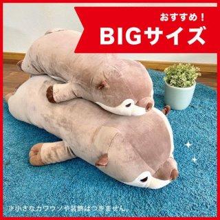 ねむねむ かわうそのくるり プレミアムねむねむ BIG カワウソ ねむねむアニマルズ 抱き枕 ぬいぐるみ 特大 グッズ