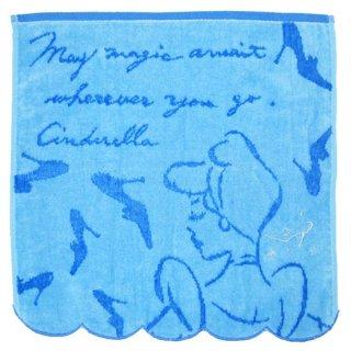 シンデレラ ギフトタオル (ハンドタオル/タオルハンカチ) ブルー プリンセスメッセージ ディズニー