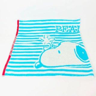 店内セール開催中!10%オフ対象商品PEANUTS スヌーピー バスタオル ねそべり スヌーピー タオル 水色 グッズ 日本製