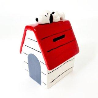 店内セール開催中!10%オフ対象商品PEANUTS スヌーピー 貯金箱 ハウス スヌーピー バンク レッド グッズ
