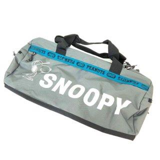 店内セール開催中!10%オフ対象商品PEANUTS スヌーピー ボストンバッグ ロゴライン GY スヌーピー バッグ カバン グレー グッズ  (MCOR)