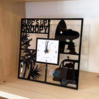 店内セール開催中!10%オフ対象商品PEANUTS スヌーピー アクリル壁掛け時計 角 SNOOPY 壁掛け 時計 インテリア グッズ