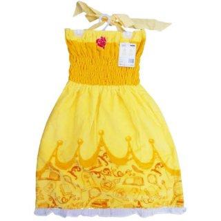 ディズニー ベル バスドレス ドレスベル バスタオル タオル サマー ディズニープリンセス 美女と野獣 黄色