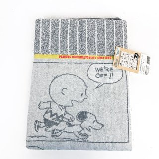 <img class='new_mark_img1' src='https://img.shop-pro.jp/img/new/icons15.gif' style='border:none;display:inline;margin:0px;padding:0px;width:auto;' />SNOOPY スヌーピー タオルケット GY ビンテージ SN 夏掛け 夏用毛布 サマー グレー グッズ