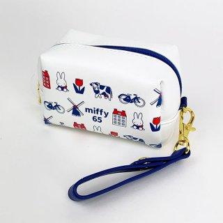 ミッフィー miffy ミニミニポーチ ダッチモチーフ 65th ミッフィー ポーチ 小物入れ 化粧ポーチ 白 グッズ  (MCOR)