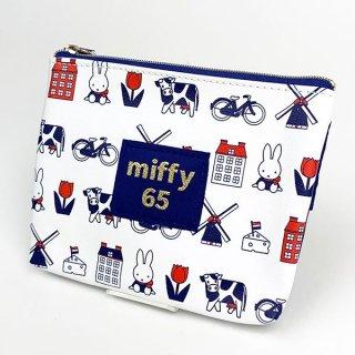 ミッフィー miffy ティッシュポーチ ダッチモチーフ 65th ミッフィー ポーチ 小物入れ 化粧ポーチ 白 グッズ  (MCOR)