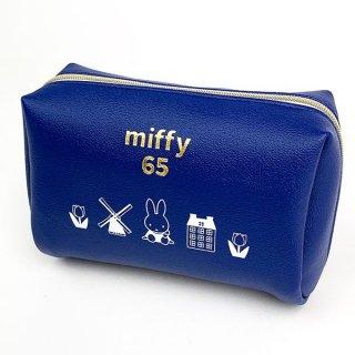 ミッフィー miffy スクエアポーチ ダッチモチーフ 65th ミッフィー ポーチ 小物入れ 化粧ポーチ 白 グッズ  (MCOR)