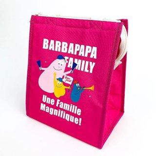 店内セール開催中!20%オフ対象商品!バーバパパ ランチバッグスクエアL チア バーバパパ ランチ バッグ トート  ピンク グッズ