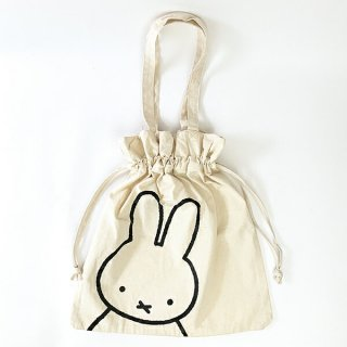 <img class='new_mark_img1' src='https://img.shop-pro.jp/img/new/icons15.gif' style='border:none;display:inline;margin:0px;padding:0px;width:auto;' />miffy ミッフィー 巾着トートバッグ BAG トート かばん 白 グッズ