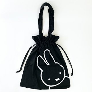 <img class='new_mark_img1' src='https://img.shop-pro.jp/img/new/icons15.gif' style='border:none;display:inline;margin:0px;padding:0px;width:auto;' />miffy ミッフィー 巾着トートバッグ BAG トート かばん 黒 グッズ