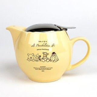 ディズニー プーさん Winnie the pooh ユニバーサルティーポット BA ナチュラルプー ドリップ 丸型 イエロー  (MCOR)
