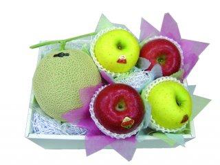 静岡産メロンとリンゴのセット
