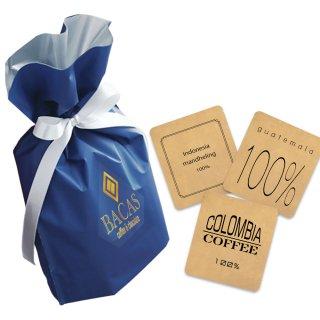 究極の手詰めドリップバッグコーヒーギフト【5袋】/リボン包装【青】 父の日・バレンタインに最適