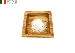 オリーブウッド 塩こざら ciotola quadrata piccola-8×8�