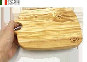 かわいいオリーブウッド カッティングボード まな板 anello piccolo-24×17�