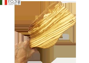 曲線美 【1点もの】 オリーブウッド カッティングボード 自然素材(大サイズ)manico curvo Rustico piccolo-30×18/25�