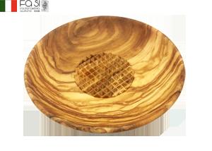 にんにくおろし オリーブウッド piattiono aglio-d10cm