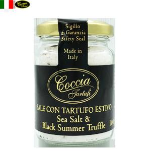 天然 黒トリュフ塩 Sea Salt & Black Summer Truffle  | COCCIA TARTUFI [ コッチャ タルトゥーフィ社]