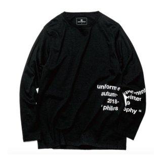【uniform experiment】OVER PRINT BIG LONG SLEEVE TEE