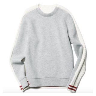 【sophnet.】FABRIC MIX CREW NECK KNIT